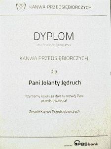 dyplom finalisty kanwy przedsiebiorczych